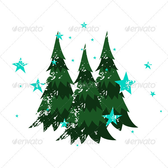 GraphicRiver Three Christmas Trees 3533798