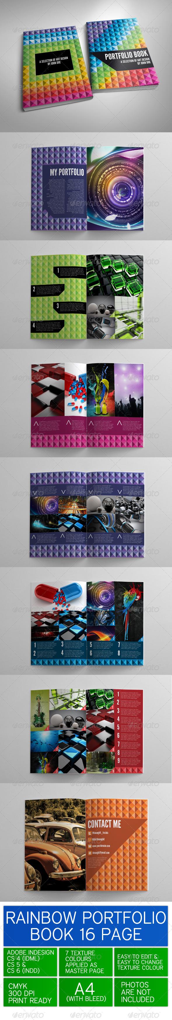 GraphicRiver Rainbow Portfolio Book 3419890