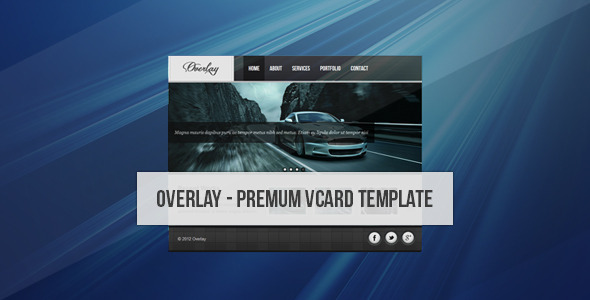 Overlay - Creative Vcard - Virtual Business Card Personal