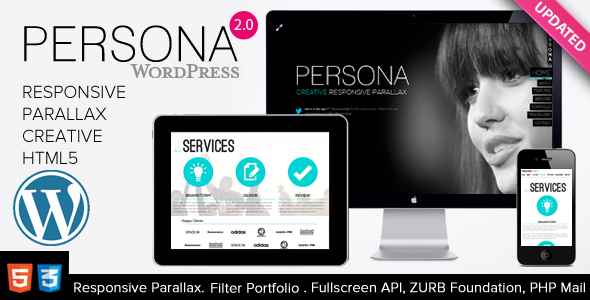 ThemeForest Persona WordPress Responsive Creative Parallax 3123164