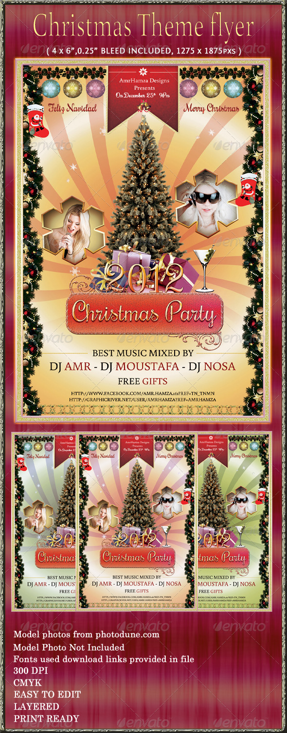 GraphicRiver Christmas Party Event Flyer 3534081