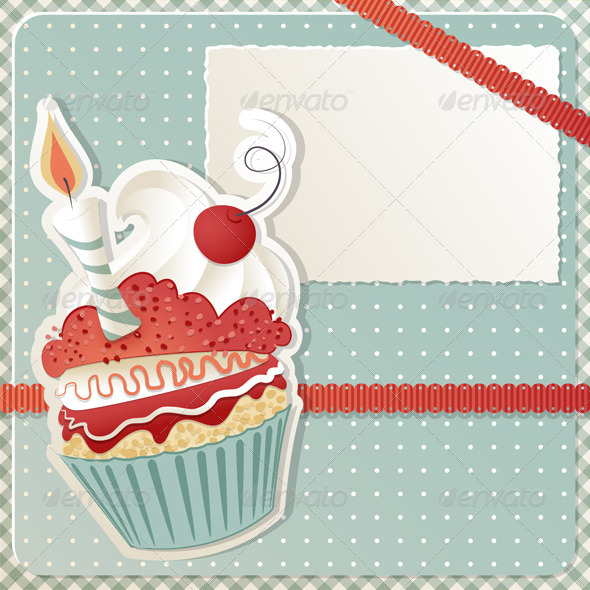 GraphicRiver Birthday Cupcake 3534595