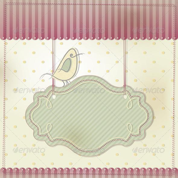 Card with Bird
