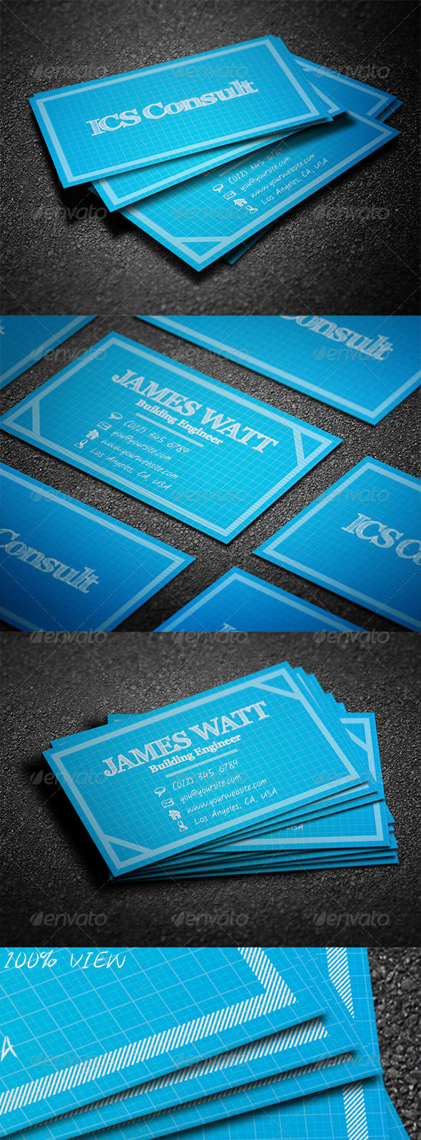 BluePrint Business Card - Creative Business Cards