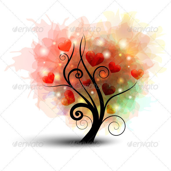 GraphicRiver Heart Tree 3534768