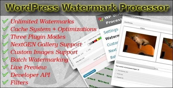 Fast Watermark Plugin for WordPress - CodeCanyon Item for Sale