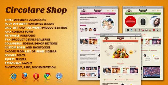 Circolare eCommerce HTML Template