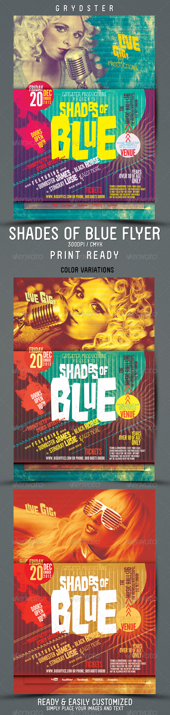 GraphicRiver Shades of Blue Flyer 3465850