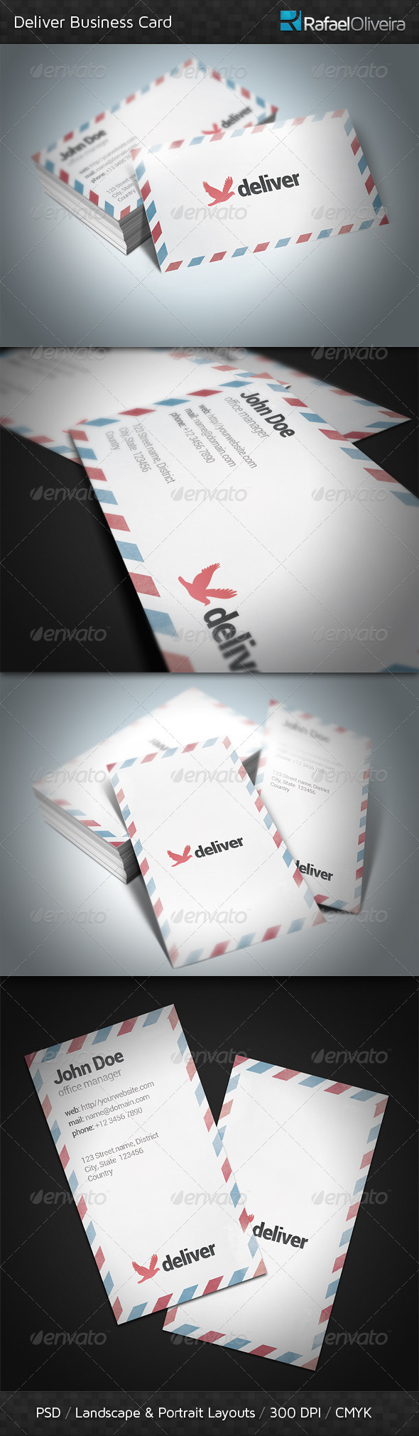 Deliver Business Card - Industry Specific Business Cards