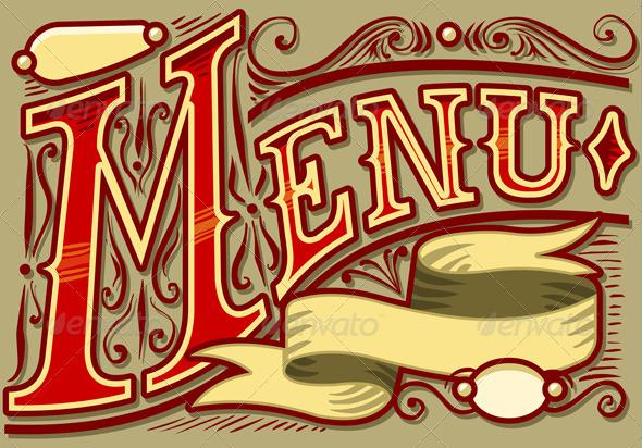 GraphicRiver Vintage Graphic Element for Menu 3536027