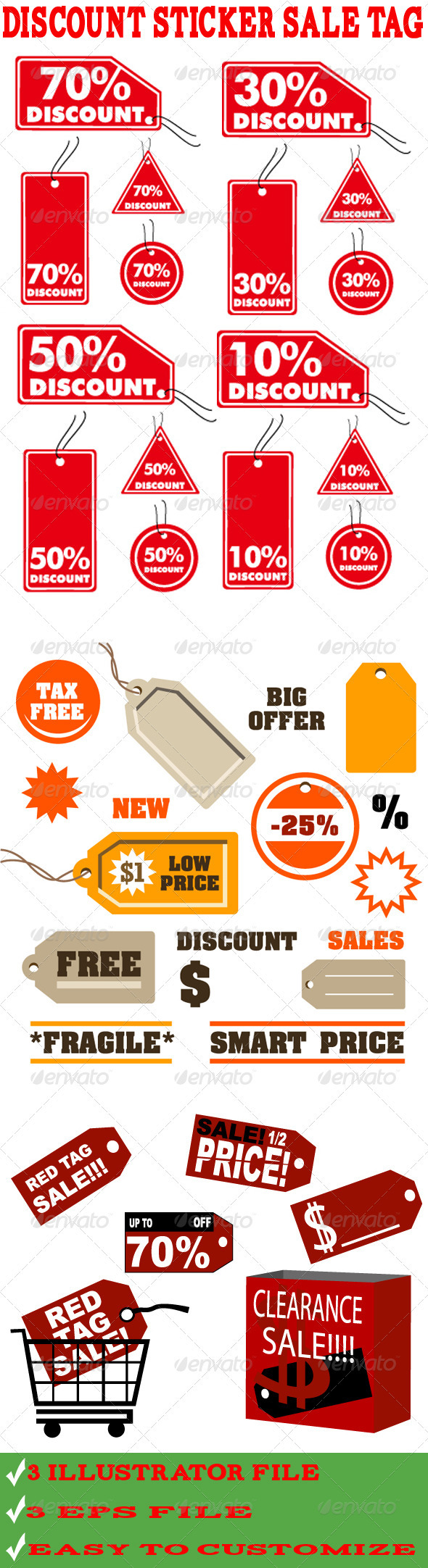 GraphicRiver Discount Sticker Sales Tag Vector 3509471