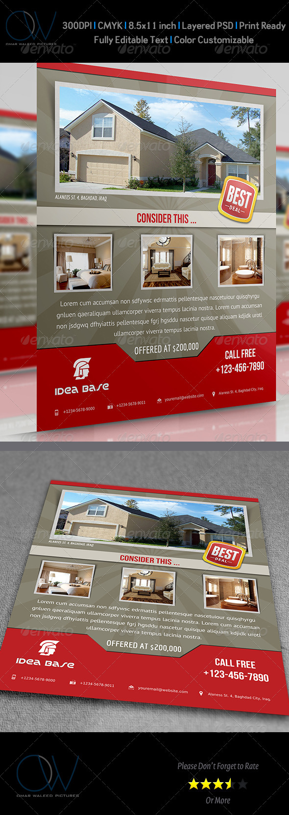 GraphicRiver Real Estate Flyer 3508653