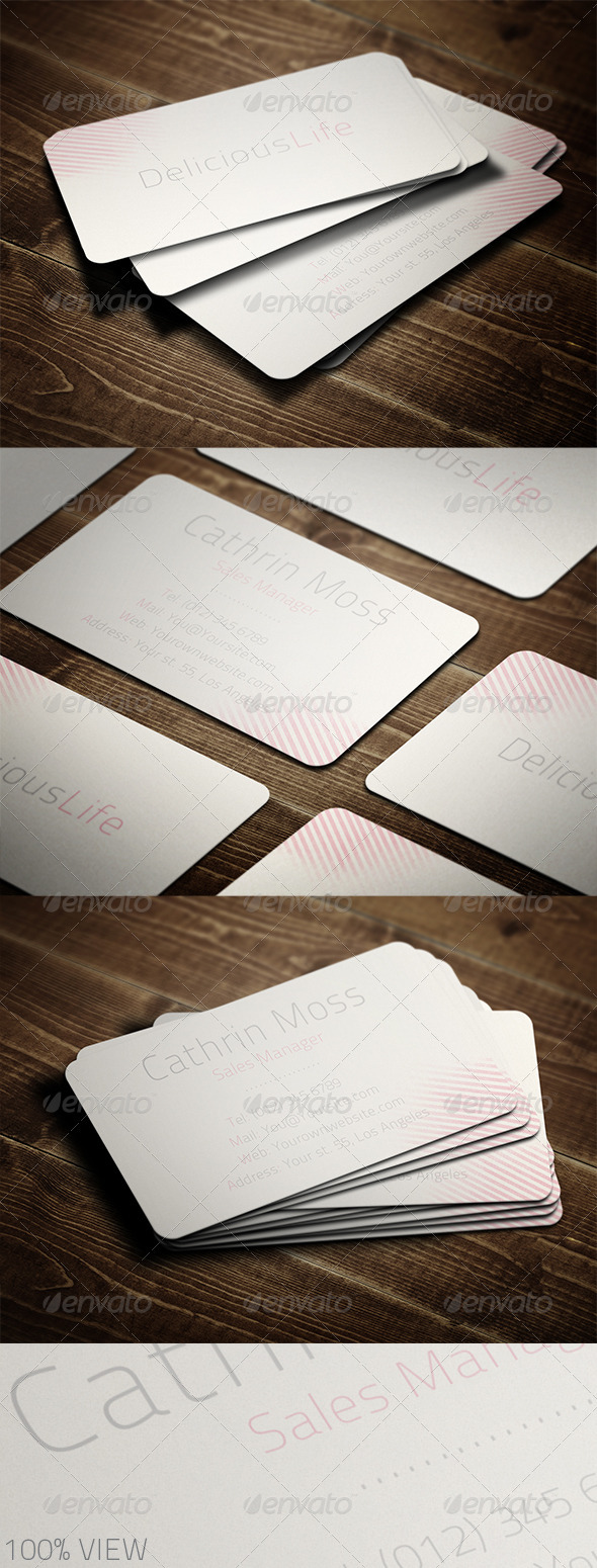GraphicRiver Femininity Business Card 3426961