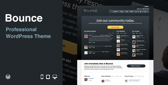ThemeForest Bounce Professional WordPress Theme 1943988