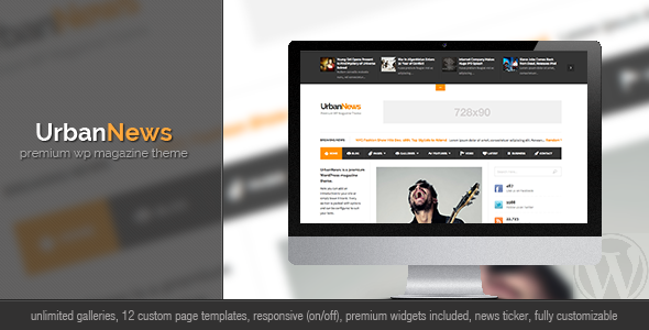 ThemeForest UrbanNews WP Magazine Theme 3509166