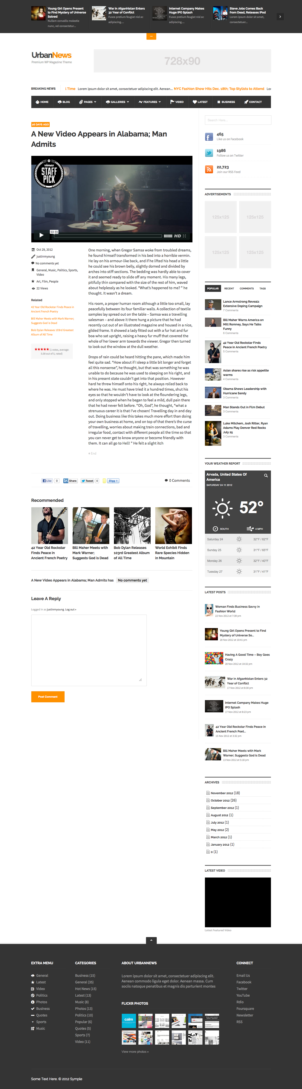 UrbanNews - WP Magazine Theme