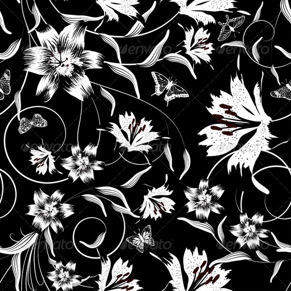 GraphicRiver Seamless Floral Pattern 3536338