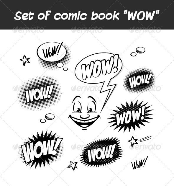 GraphicRiver Set of Comic Book WOW 3270270