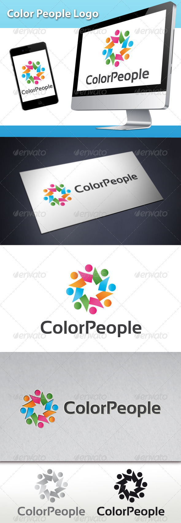 GraphicRiver Color People Logo 3525144
