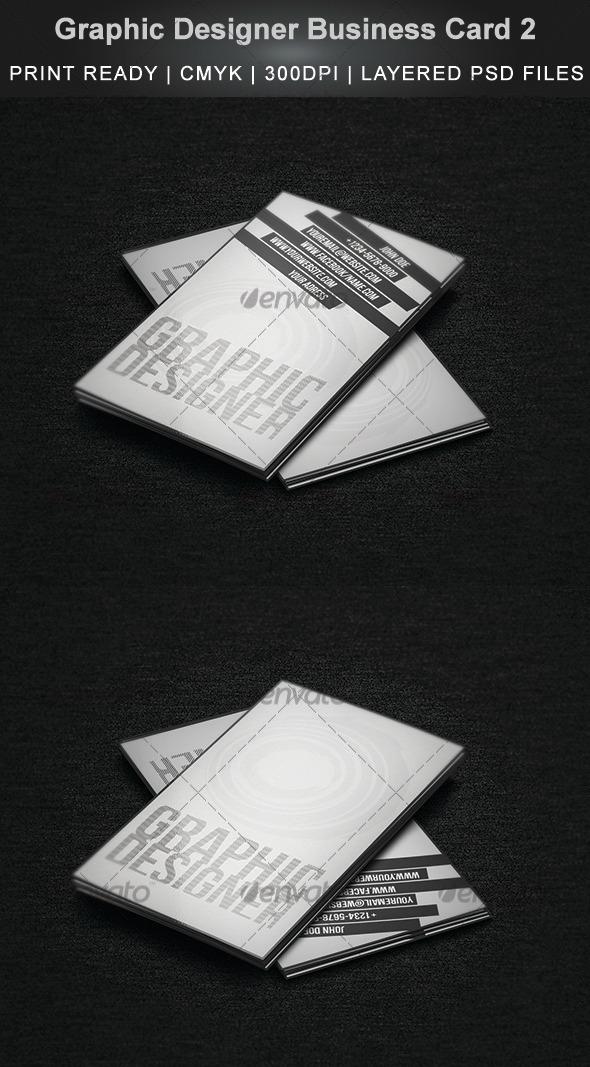 GraphicRiver Graphic Designer Business Card 2 3536672
