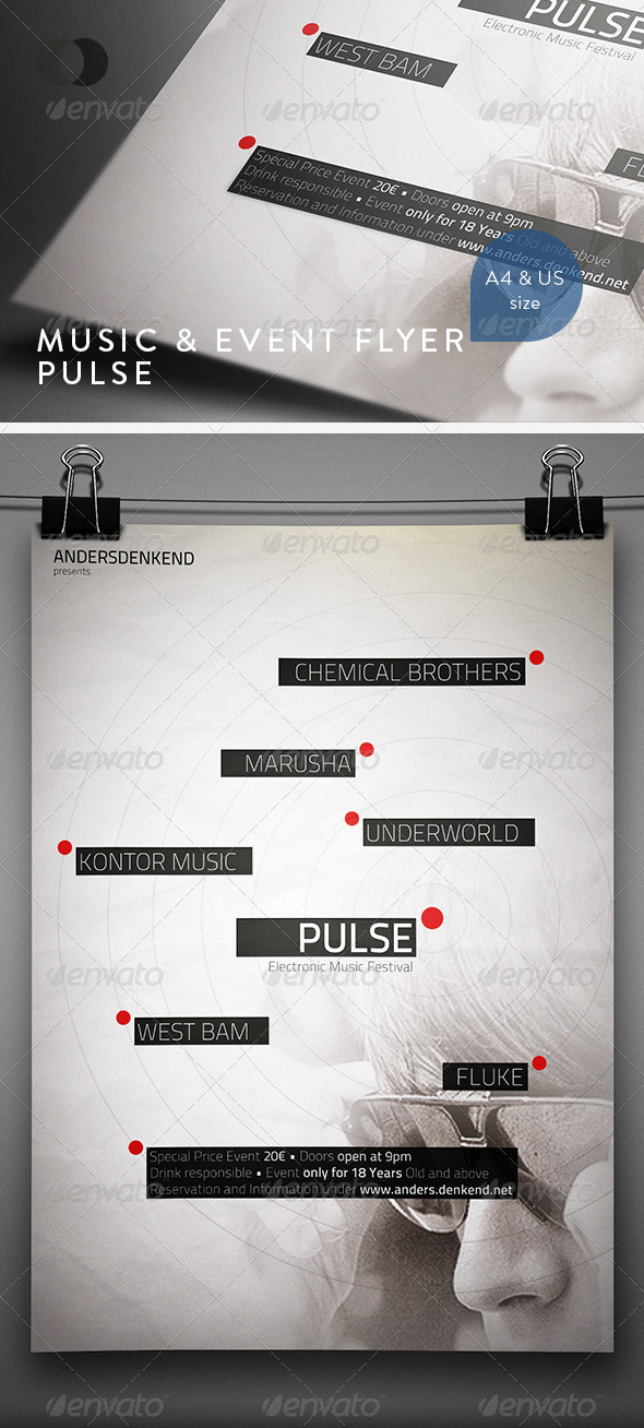 GraphicRiver Music & Event Flyer Pulse 542272