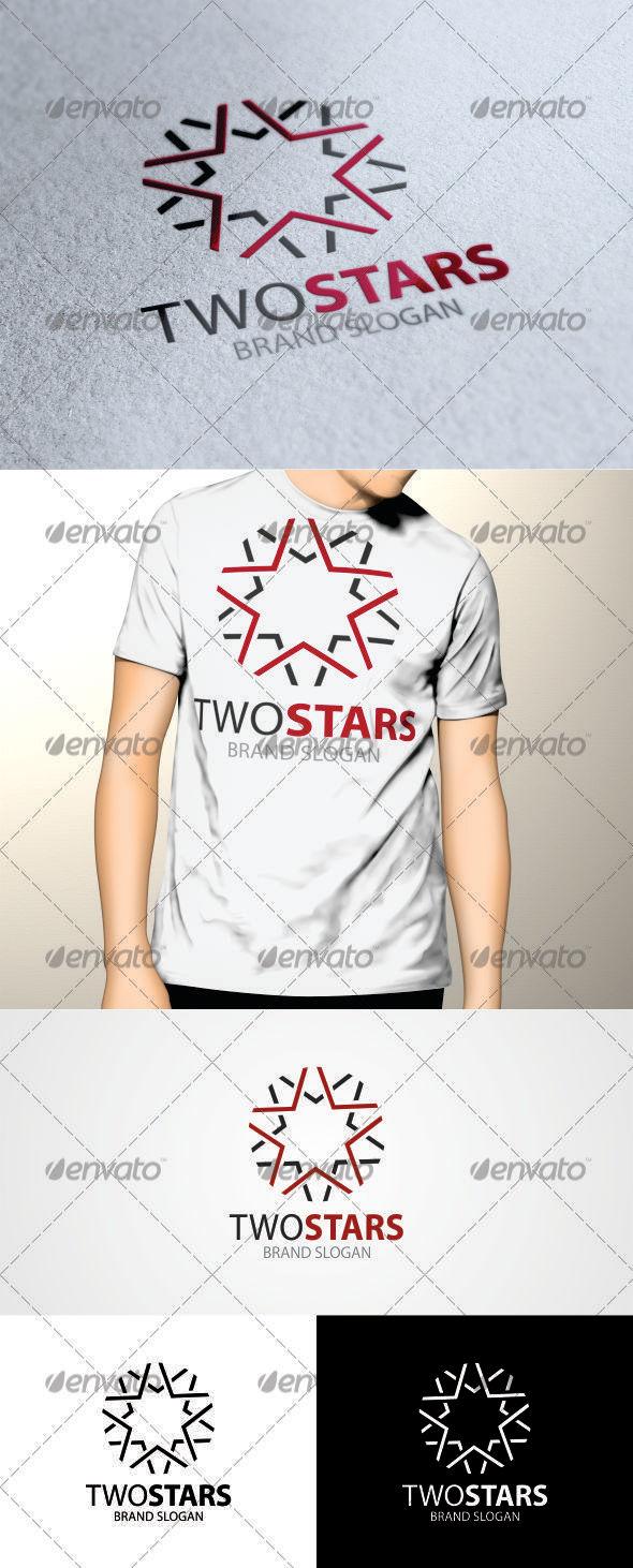 GraphicRiver Two Stars Logo 3536792