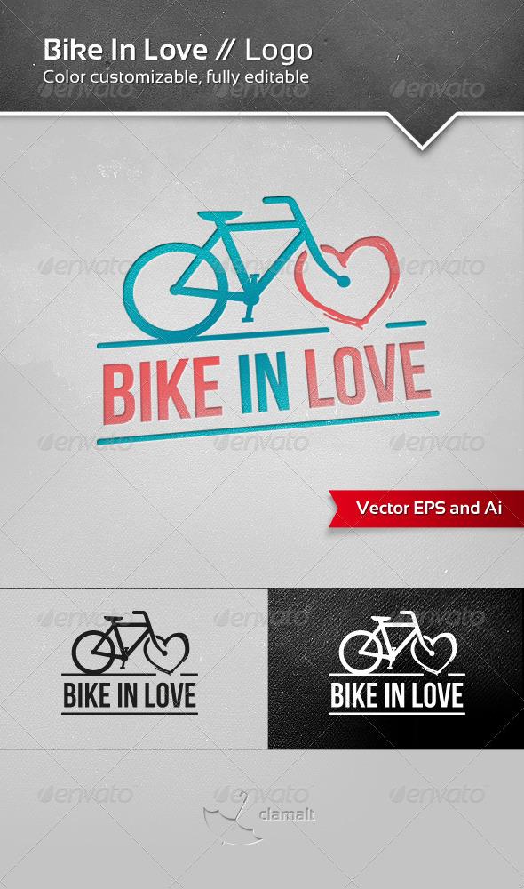 GraphicRiver Bike In Love Logo 3536991
