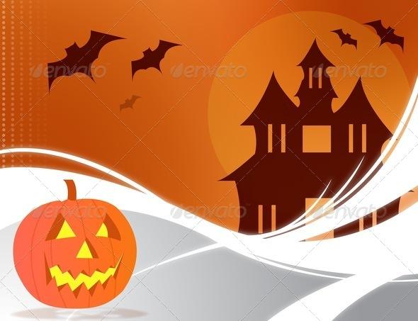 PhotoDune Halloween card 3939643