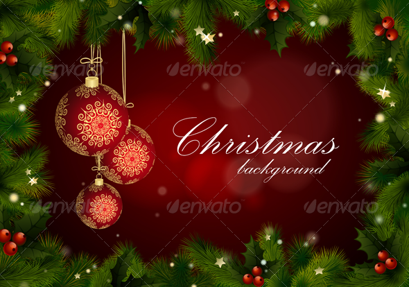 GraphicRiver Christmas Background Vector with Text 3537422
