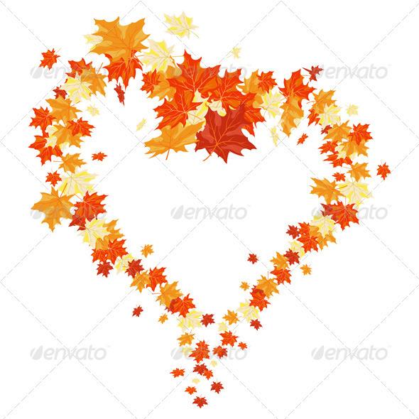 GraphicRiver Autumn Heart 3537425