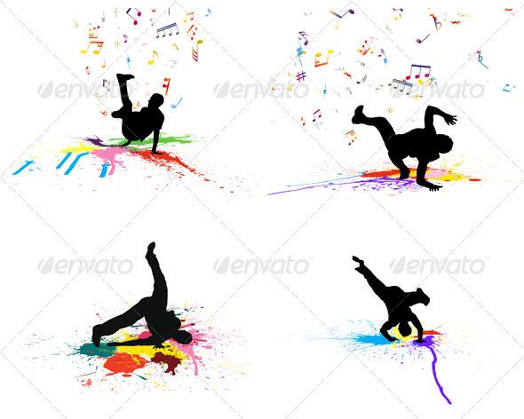 GraphicRiver Dance Background Set 3537442