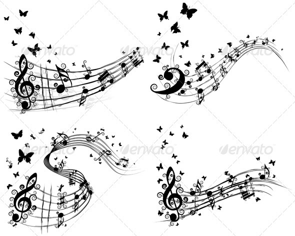 GraphicRiver Set of Musical Backgrounds 3537476