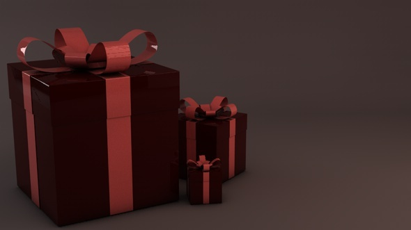 3DOcean Christmas gift box presents 3537601