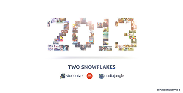 VideoHive Two Snowflakes 3537769