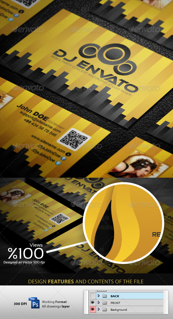 GraphicRiver Ultra DJ Business Cardvisid 3509827