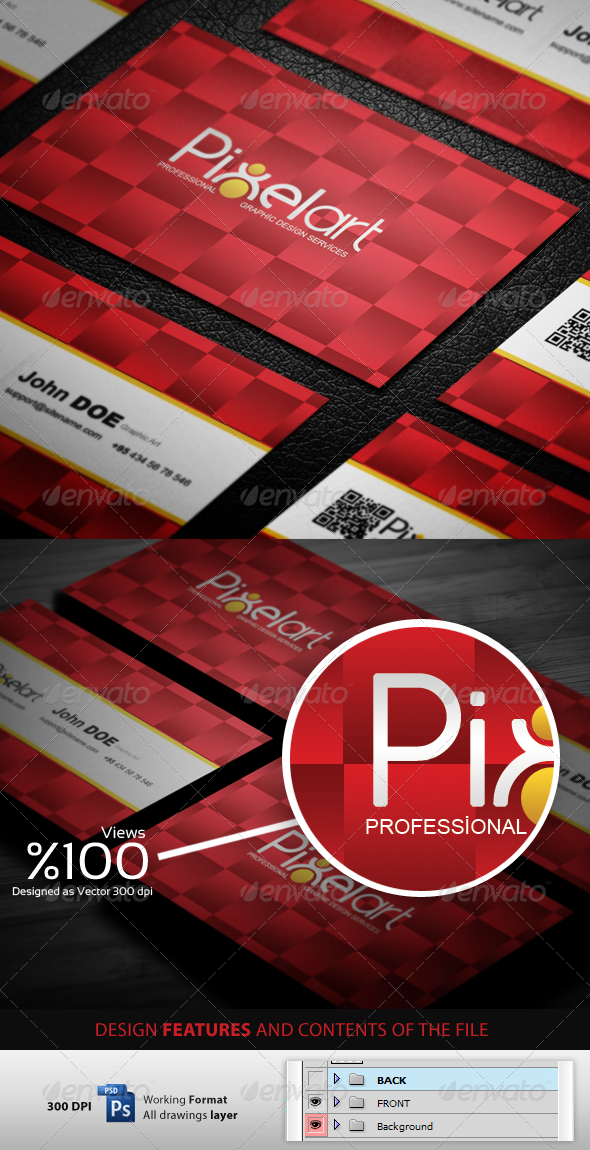 GraphicRiver Pixelart Business Cardvisid 3511739