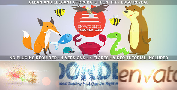 VideoHive Clean and Elegant Corporate Identity Logo Reveal 3538138
