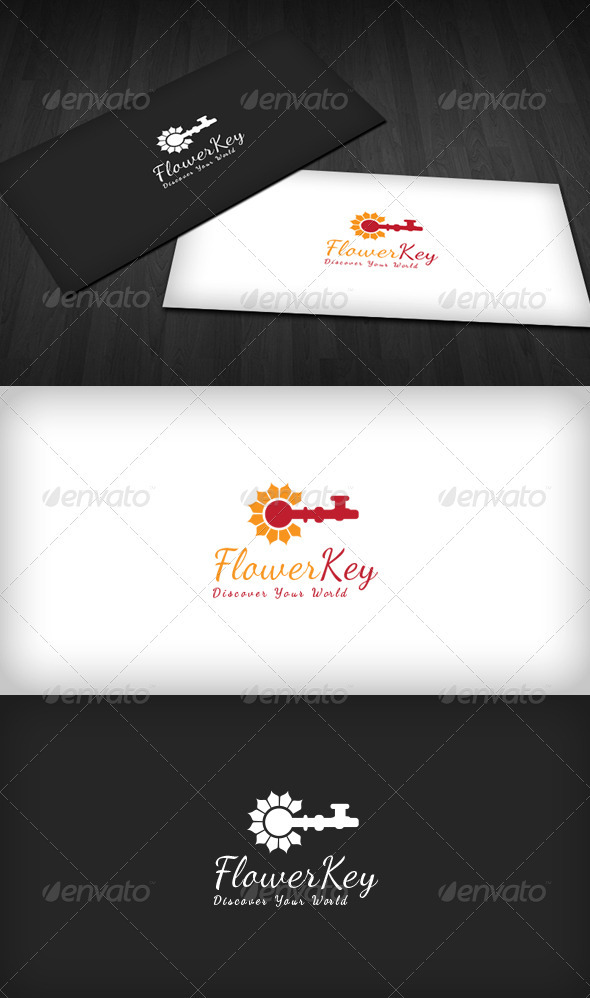 GraphicRiver Flower Key Logo 3486860