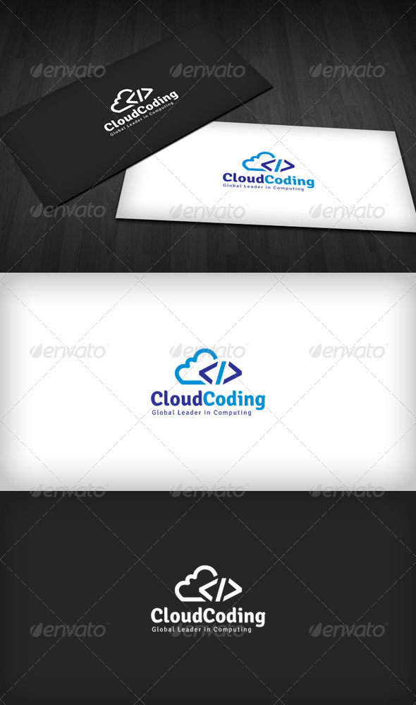 GraphicRiver Cloud Coding Logo 3486709