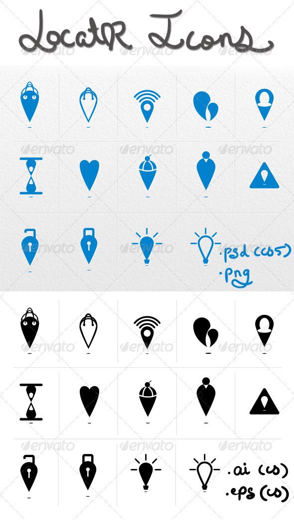 GraphicRiver Locator Icons 3456738