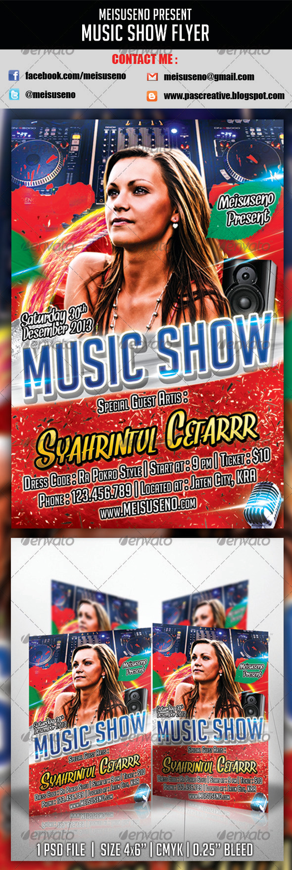 GraphicRiver Music Show Flyer 3538220