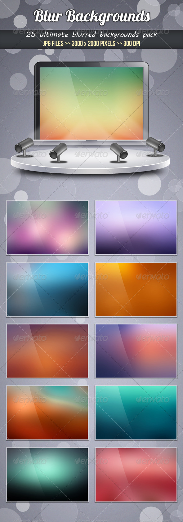 GraphicRiver Blur Backgrounds 3538301