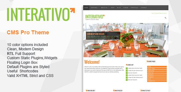 ThemeForest Interativo Premium CMS pro theme 3538349