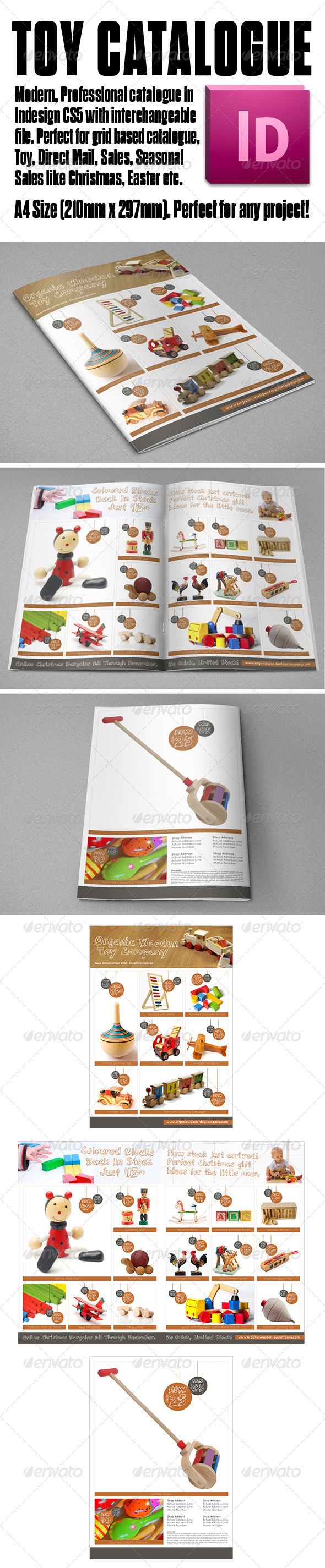 GraphicRiver Organic Product A4 Toy Catalogue 4 page 3538351
