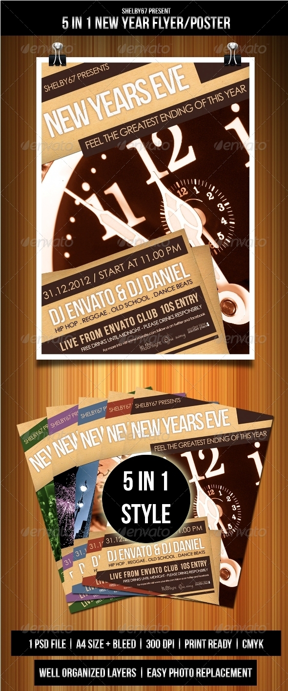 New Years Eve Flyer / Poster - Events Flyers