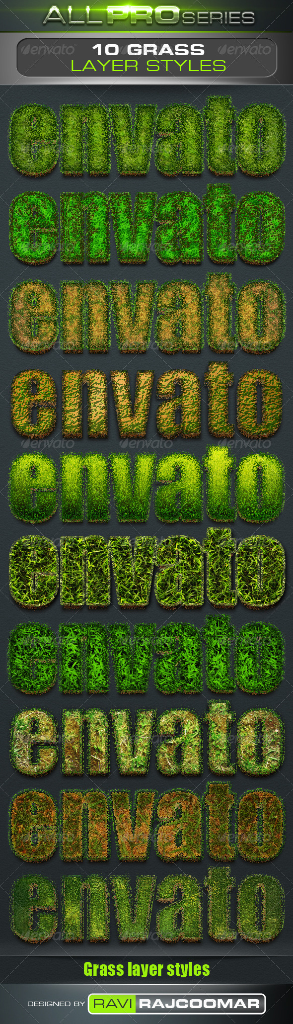 GraphicRiver Grass Text Styles 3538408
