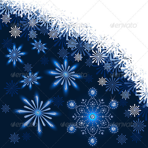 GraphicRiver Christmas Dark Blue Background 3538416