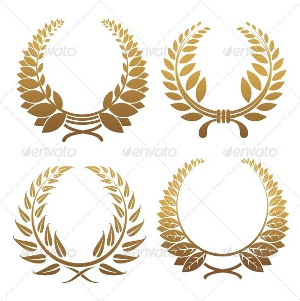 GraphicRiver Set of Laurel Wreaths 3538661