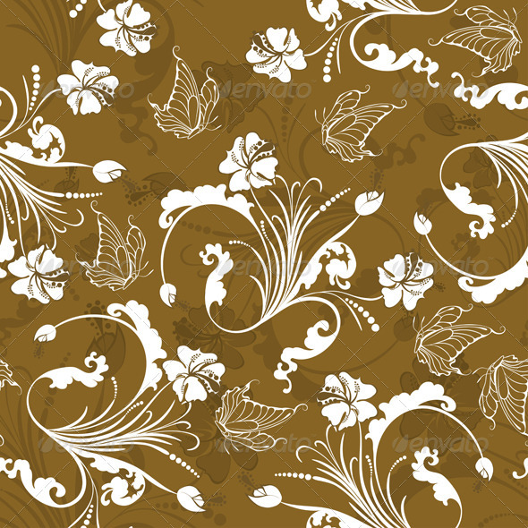 GraphicRiver Seamless Floral Pattern 3539184