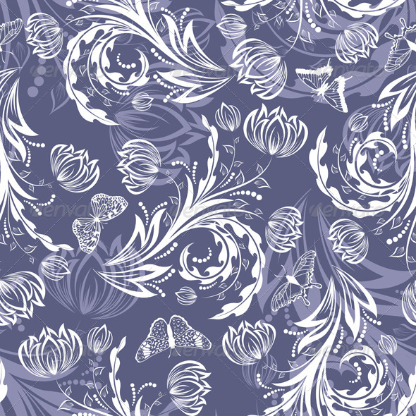 GraphicRiver Seamless Floral Pattern 3539185